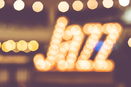 background lights: abstract blur bokeh in jazz word,music background,vintage filter.