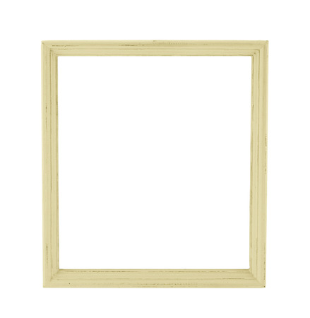 wooden frame: Pastel color wood photo frame in country rustic style isolated on white background,Template for add photo