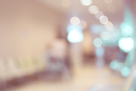 Blurred patient waiting for see doctor,abstract background. Stock Photo