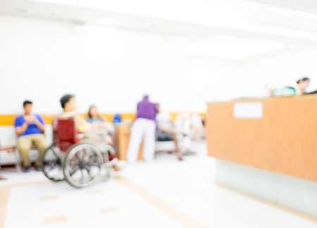 Blur background : Patient waiting for see doctor at hospital ,abstract background.