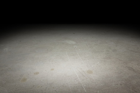 Perspective grunge concrete floor fade to black background, Template Mock up for display of product. Stock Photo