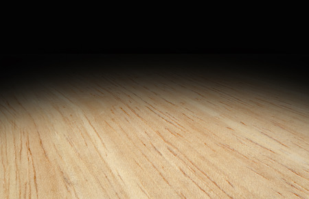 black wood texture: Perspective light wooden floor fade to black background, Template Mock up for display of product.