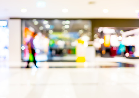 retail: customer in store blur background with bokeh