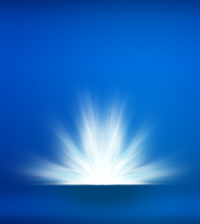 ray light: Abstract blue background with light ray explosion, Template mock up for place your product in front of ray light and can add your text above and below light. Stock Photo