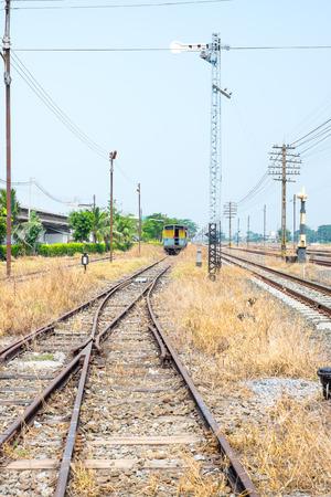 Vacant Rail way tracks photo