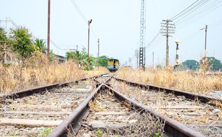 vacant: Vacant Rail way tracks Stock Photo