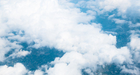 aerial animal: Aerial view landscape of Bangkok city in Thailand with cloud Stock Photo
