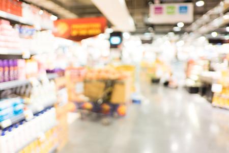retailer: Supermarket store blur background with bokeh.