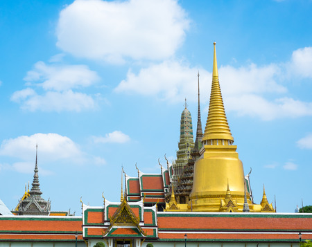 Landscape view of Grand palace, Temple of the Emerald Buddha (Wat pra kaew) in Bangkok ,Thailand. photo