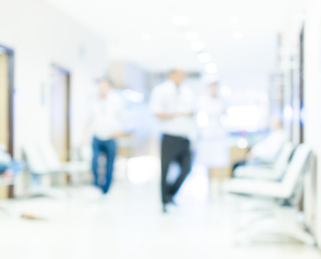 hospital interior: Blurred background of Patient waiting in hospital