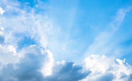 nice weather: Nice blue sky with sun beam with cloudy.