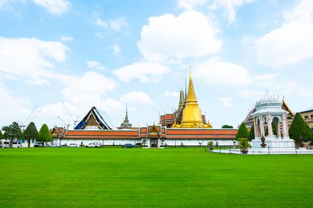 bangkok landmark: Landscape view of Grand palace, Temple of the Emerald Buddha (Wat pra kaew) in Bangkok ,Thailand.