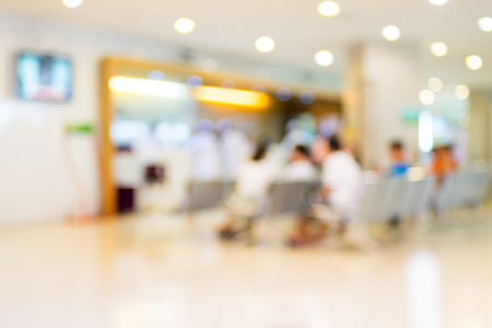 Blurred patient waiting in hospital Banque d'images