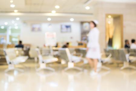 visitador medico: Paciente borrosa espera de m�dico a ver, fondo abstracto.