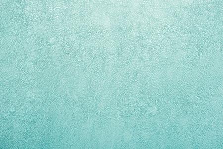 緑の革のテクスチャの背景。