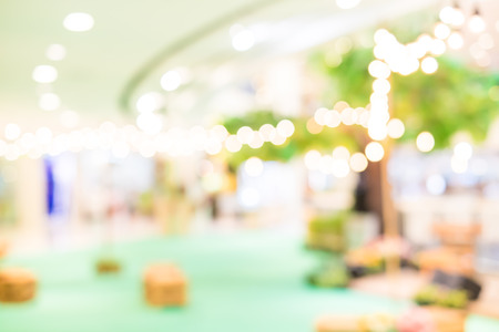 Blurred background : Festival area in shopping mall with bokeh. photo