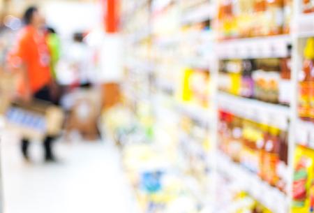 supermercado: Supermercado desenfoque de fondo con el bokeh. Foto de archivo