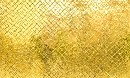 metal: Glossy Gold mosaic tile wall, texture background.