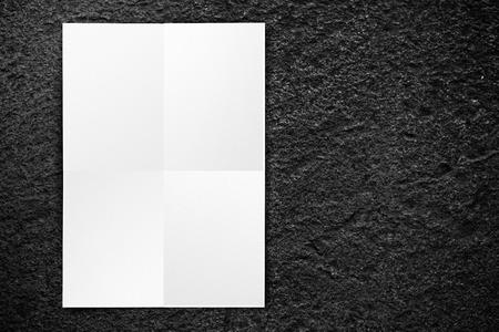 Black White Paper Poster Hanging At Grunge Black Brick Wall – Free White Paper Template