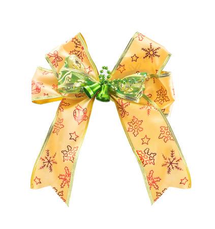 christmas bow: Christmas Bow isolated on white background.