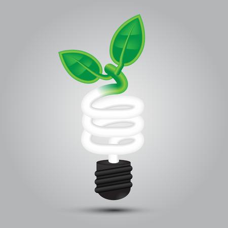green light bulb: Vector,Go Green Light bulb,environment saving Illustration