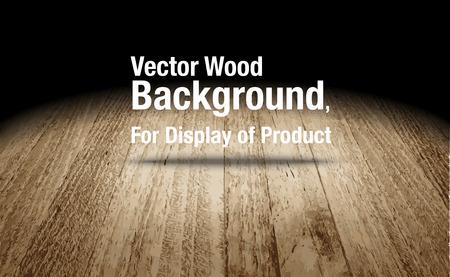 dark wood: Vector : Plank wooden floor background Mock up for display of product