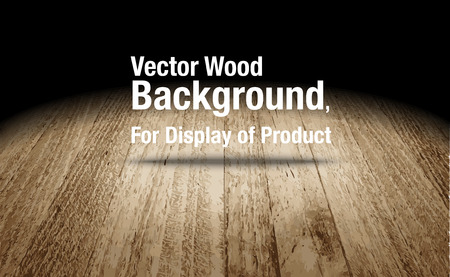 Vector : Plank wooden floor background Mock up for display of product