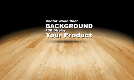 wooden board: Vector : Plank wooden floor background Mock up for display of product