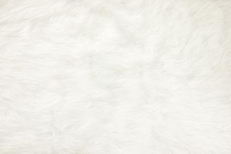 흰색 모피 패브릭 질감 배경에 닫습니다.