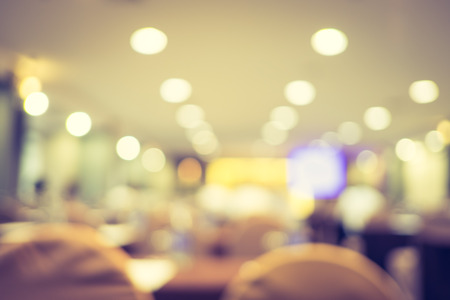 business events: blur background, seminar event room with bokeh light background,Business concept. Stock Photo