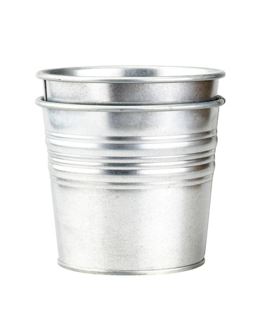 sliver: Sliver bucket isolated on white background with clipping path.