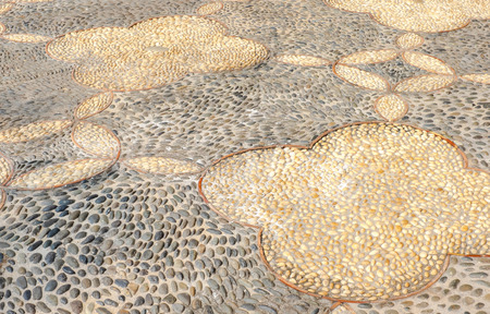 pebbles: Perspective Pebble in concrete floor, texture background.