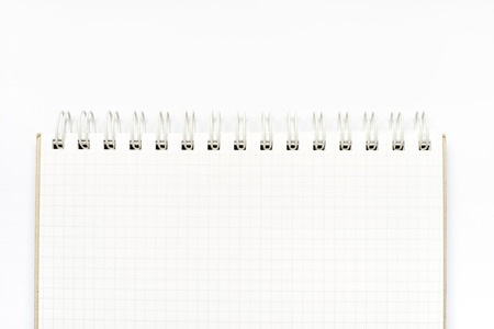 notebook paper background: Open ruled paper notebook isolated on white background.