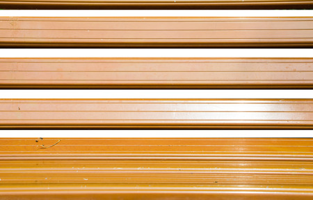 timber bench seat: Close up wood at bench isolated on white background.