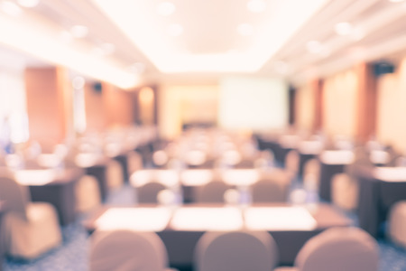education event: blur background, seminar event room with bokeh light background,Business concept. Stock Photo
