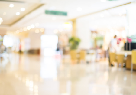 Blurred background : Customer shopping at department store with bokeh light. Stock Photo