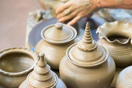 pottery: Thai pottery ,Thai pottery style handmade.
