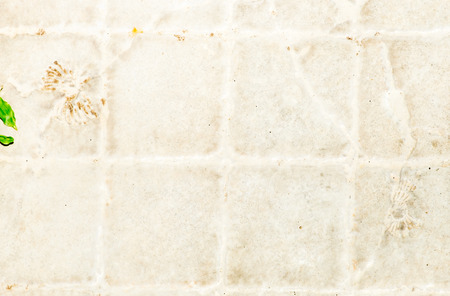tile flooring: Dity white tile flooring texture background. Stock Photo