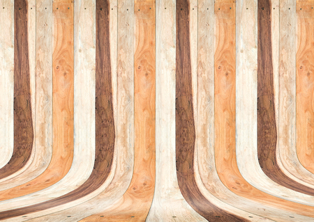 studios: Tropical wood plank room,Texture background, Mock up for adding your text. Stock Photo