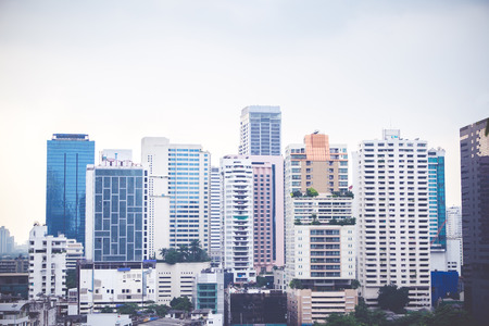 commercial building: Cityscape view of bangkok , business building view.