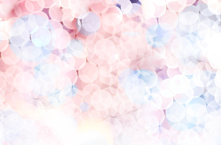 Blurred background, Pink and blue circle bokeh abstract light background. Stock Photo