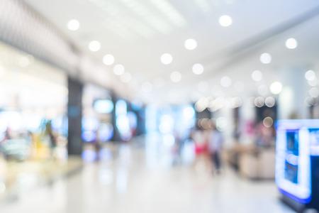 Abstracte achtergrond wazig: Klant winkelen bij warenhuis met bokeh licht ..
