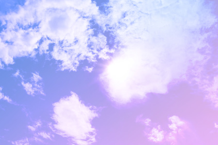 big behind: Dreamy filter : Blue sky with sun behind big cloud. Stock Photo