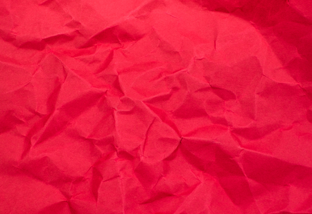 texture paper: Red color crumpled paper texture background. Stock Photo