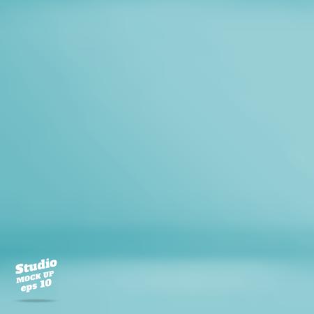 Vector: Lege pastel turquoise studio achtergrond, Template mock-up voor de weergave van het product, Business achtergrond.