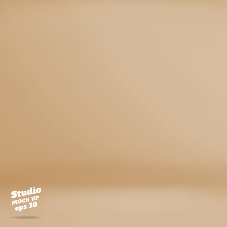 Vector :Empty pastel brown studio room background ,Template mock up for display of product,Business backdrop.