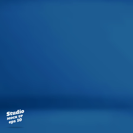 empty room: Vector :Empty navy blue studio room background ,Template mock up for display of product,Business backdrop.