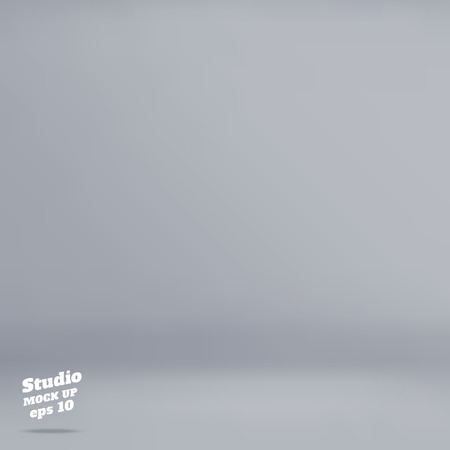 Vector :Empty pale grey studio room background ,Template mock up for display of product,Business backdrop.