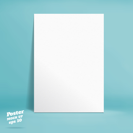 blank wall: Vector :Empty pastel turquoise studio room background ,Template mock up for display of product,Business backdrop. Illustration