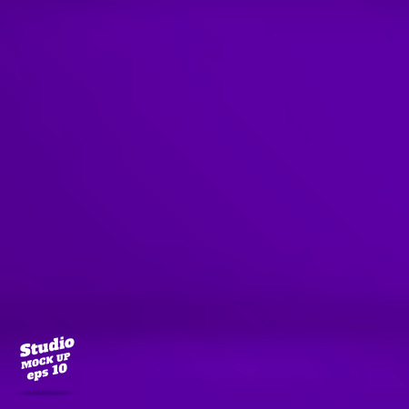product display: Vector :Empty vivid purple studio room background ,Template mock up for display of product,Business backdrop.